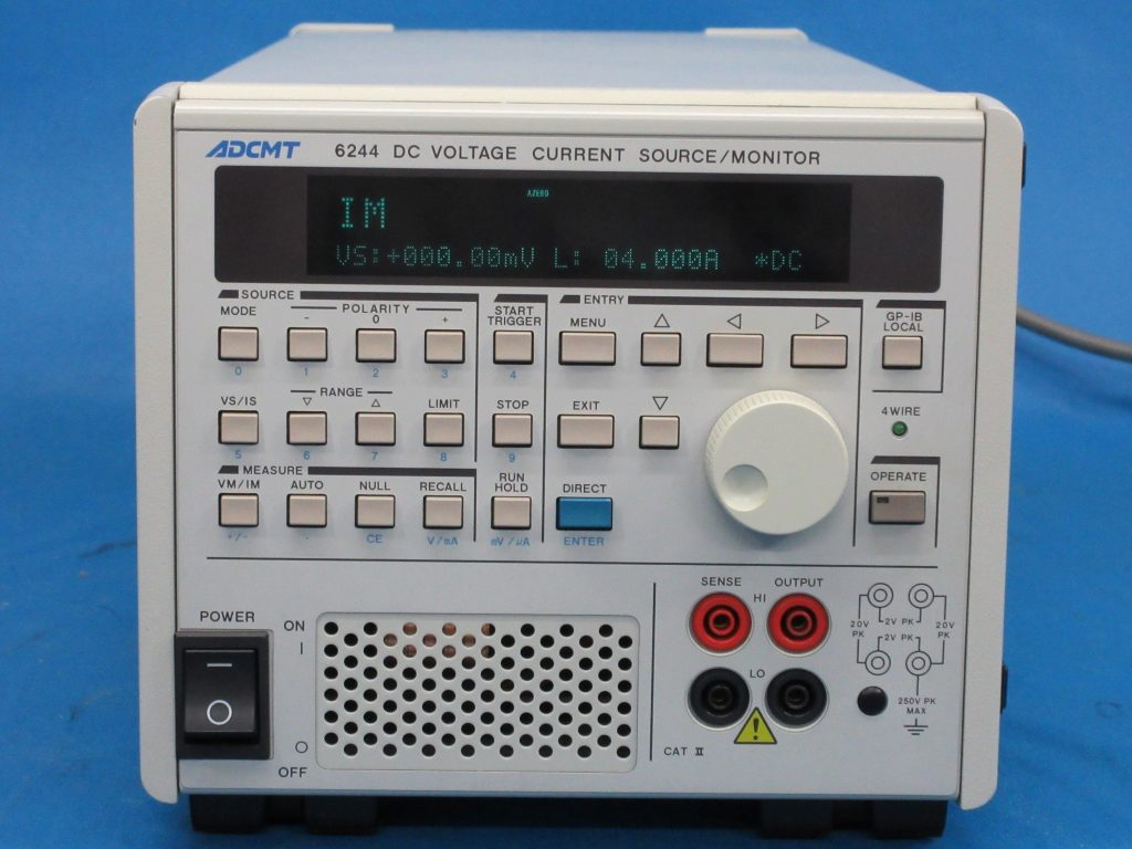 直流電圧・電流源/モニタ 6244,R6244