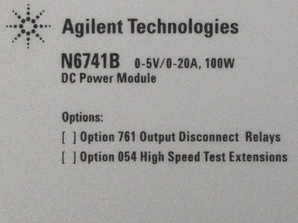 DC電源モジュール N6741B